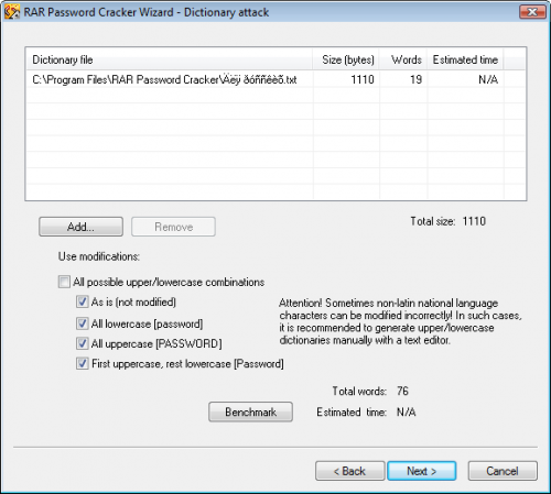 RAR Password Cracker 4.12 - T�l�charger 4.12