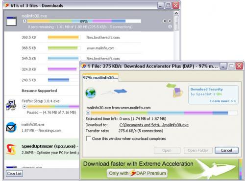 Download Accelerator Plus (DAP) 9.4.0.7 - T�l�charger 9.4.0.7