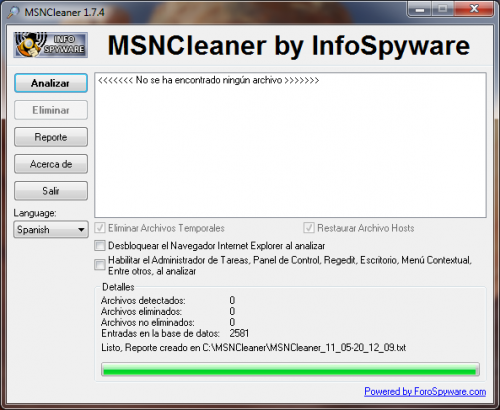 MSNCleaner 1.7.5 - T�l�charger 1.7.5