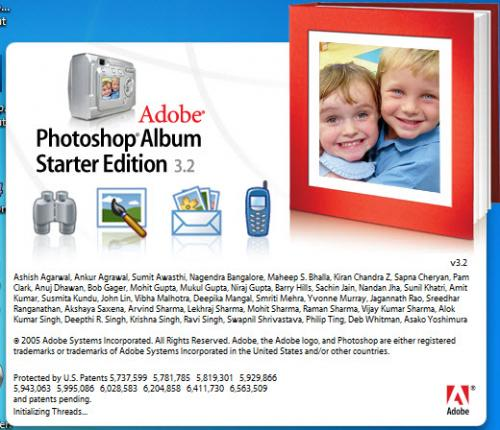 Adobe Photoshop Album SE 3.20 - T�l�charger 3.20