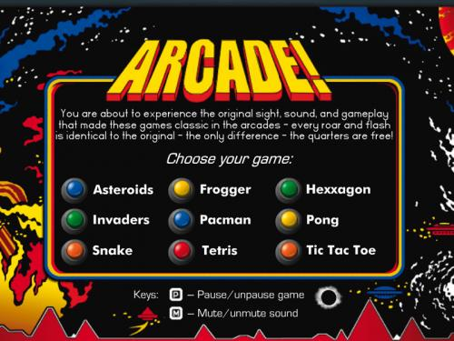 Arcade! Classic Arcade Pack 3.7.0 - T�l�charger 3.7.0