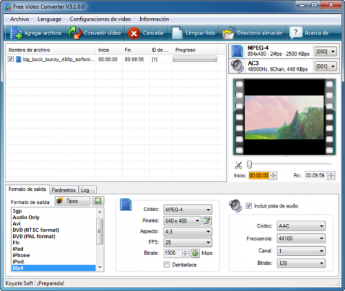 Koyote Free Video Converter - T�l�charger 3.0