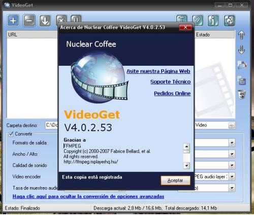 VideoGet 3.0.2.48 - T�l�charger 3.0.2.48