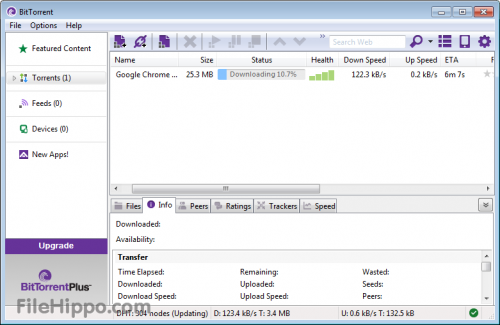 BitTorrent 7.0 - T�l�charger 7.0